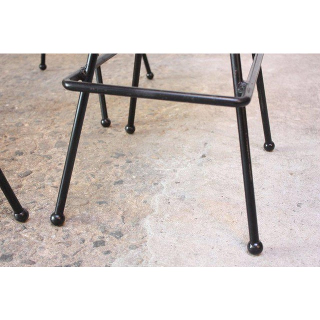 Set of Four Adrian Pearsall #11 Iron Barstools For Sale - Image 9 of 11