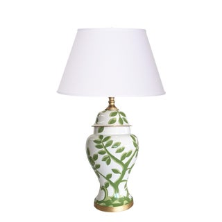 Dana Gibson Cliveden Lamp in Green on White