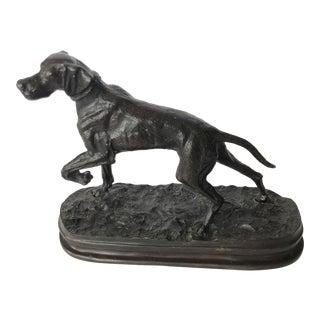 Vintage Bronze Great Dane Sculpture