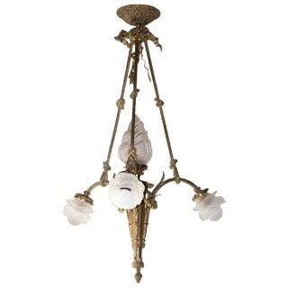 Early 20th Century Antique French Pendant Chandelier For Sale