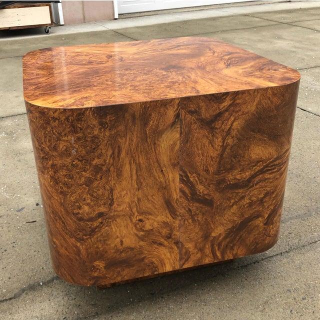 Milo Baughman Milo Baughman Burl Wood End Table or Coffee Table For Sale - Image 4 of 7