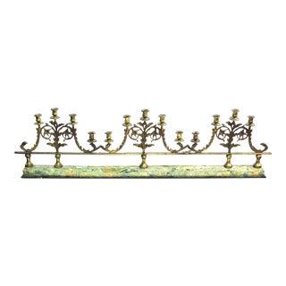 Victorian Gilt Metal Candelabra Railing For Sale