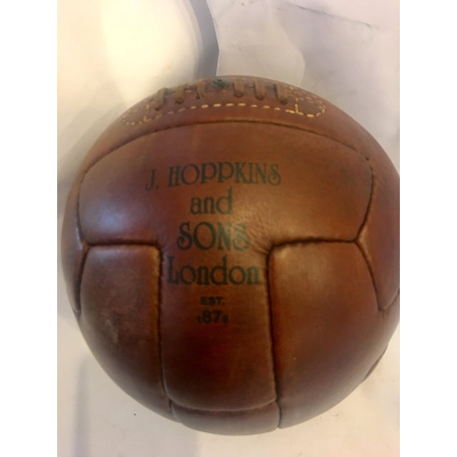 1924 Traditional Wembley Match Leather Soccer Ball - Image 3 of 5