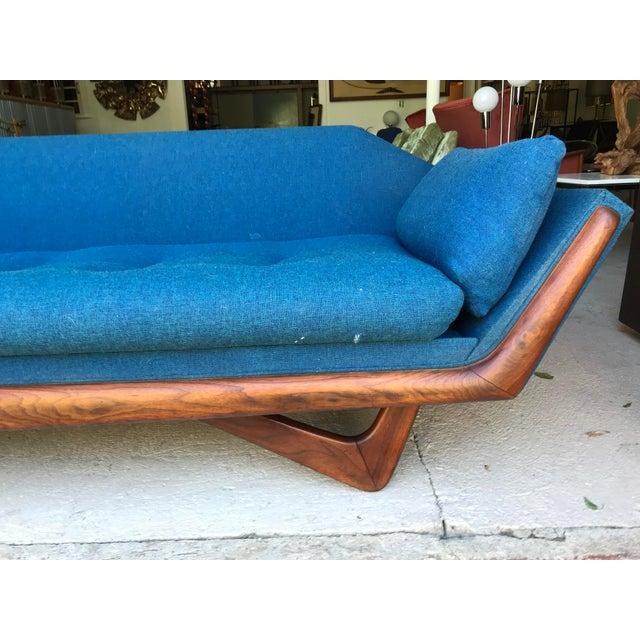"101"" Adrian Pearsall Walnut Gondola Sofa Craft Associates For Sale In New York - Image 6 of 13"