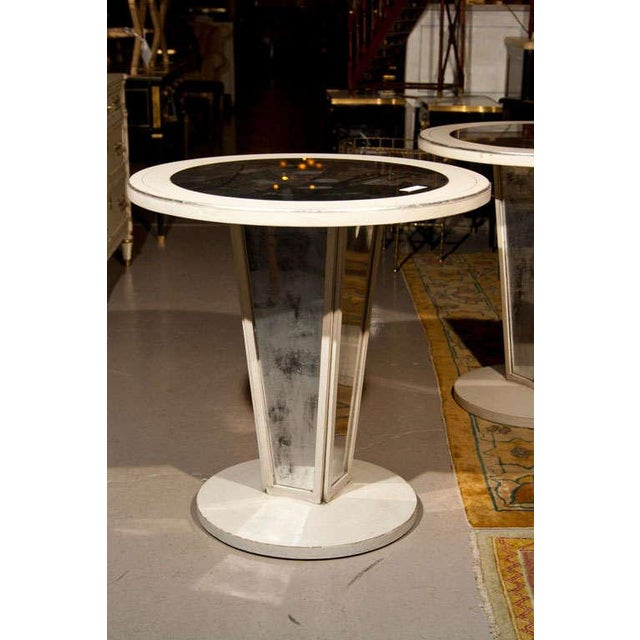 Glass Maison Jansen Mirrored Side Tables - A Pair For Sale - Image 7 of 8