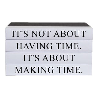 Making Time Quote Book Stack - 4 Pieces For Sale