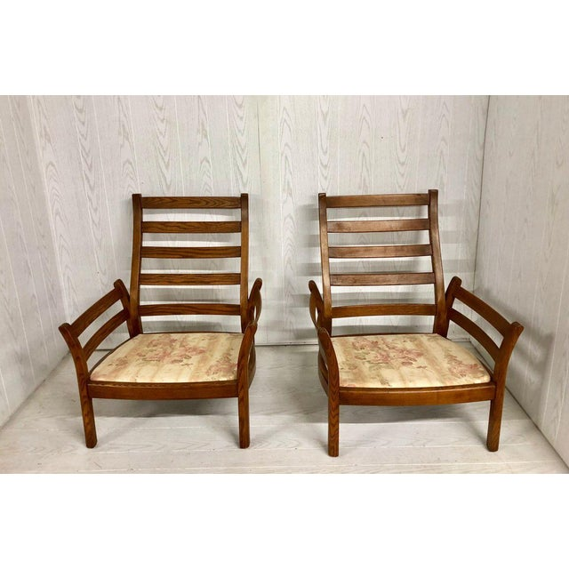1980s Mid-Century Modern Ercol Savlle Arm Chairs - a Pair For Sale - Image 10 of 10