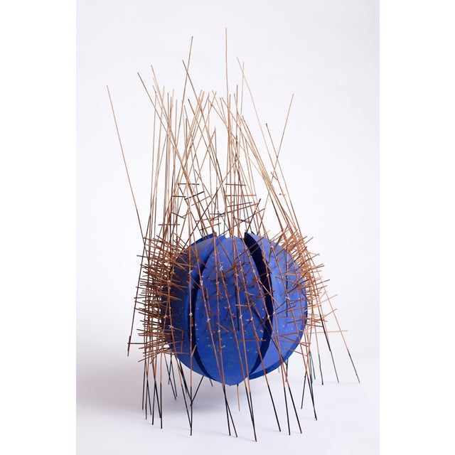 Irving Harper (1916-2015) Striking, unusual, and highly spirited painted paper and wood abstract sculpture, reminiscent of...