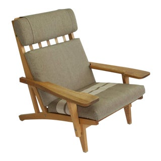 Pair of Wide Arm Lounge Chairs by Hans Wegner