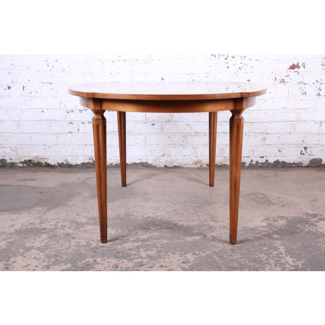 Brown Romweber Mid-Century Modern Cherry and Burl Wood Dining Set, 1960s - Set of 7 For Sale - Image 8 of 13