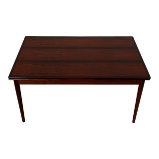 Mid-Sized Danish Modern Rosewood Expanding Dining Table For Sale