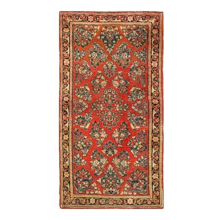 1920s Vintage Pasargad Persian Rust Sarouk Rug- 2′3″ × 4′4″ For Sale