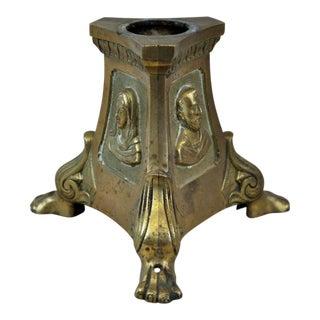 Antique Ecclesiastical Catholic Brass Candle Holder