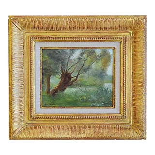 """Ben Carré, (1883-1978) French Landscape Oil Painting """"Spring Sunlight, Marne"""" For Sale"""