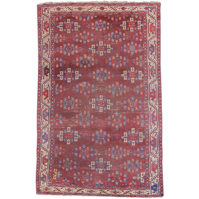 Asian Yomut Main Carpet - 6′ × 9′4″ For Sale - Image 3 of 3