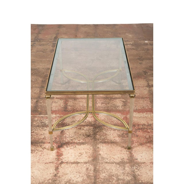 Gold Hollywood Regency Mix Metal Bronze Coffee Table For Sale - Image 8 of 9