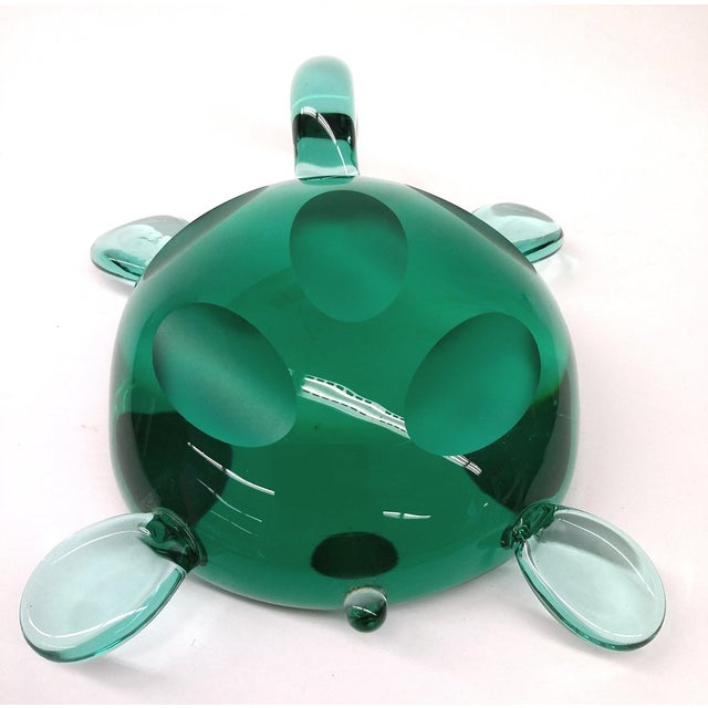 Modern Jade Green Crystal Turtle - Image 6 of 8