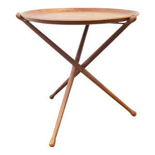 1950s Swedish Ary Fanerprodukter Nybro Teak Tray Table For Sale