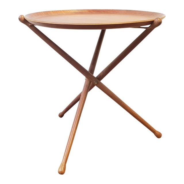 1950s Swedish Ary Fanerprodukter Nybro Teak Tray Table For Sale