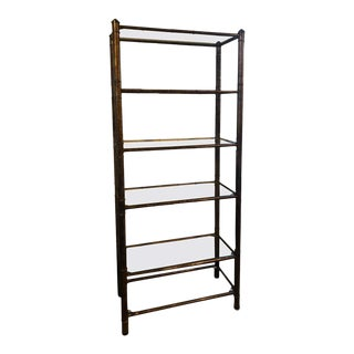 Hollywood Regency Faux Bamboo Étagère For Sale