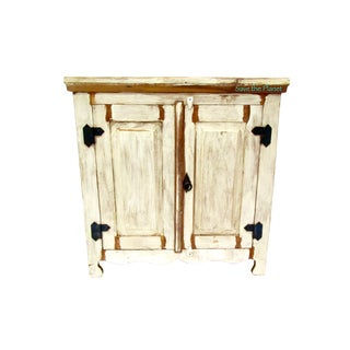 Antique Two Door Cabinet Eco-Friendly Reclaimed Solid Wood For Sale