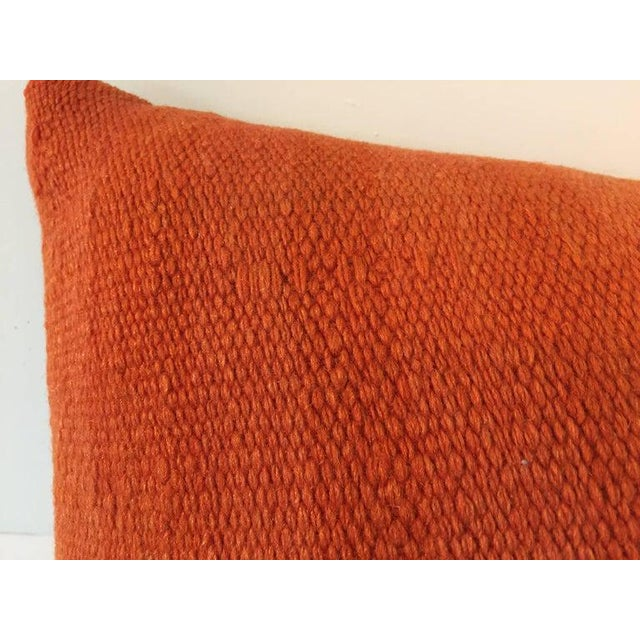 Early 20th Century Handwoven Moroccan Tribal Berber Throw Pillow For Sale - Image 5 of 10