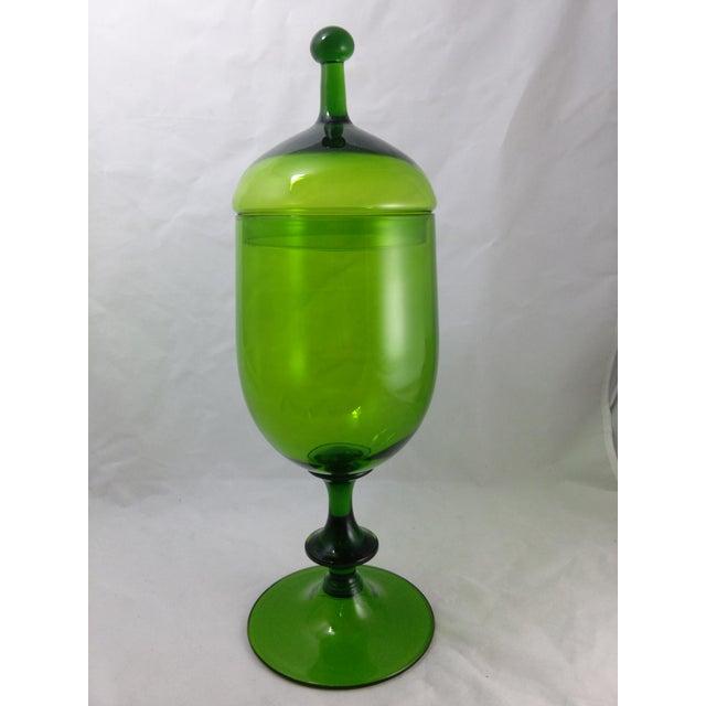 Empoli Italian Art Glass Apothecary Candy Jar - Image 2 of 11