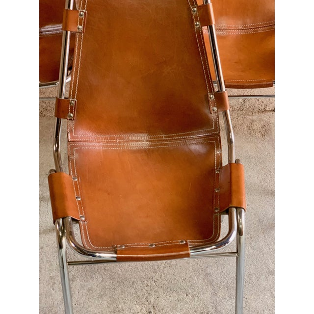 Brown Les Arcs Dining Chairs Leather, 1960s - Set of 6 For Sale - Image 8 of 13