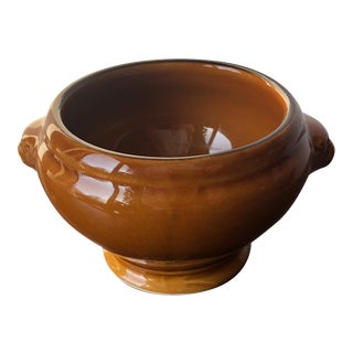 Provencal French Pottery Soup Bowl-Lion's Head Design-Two Available For Sale
