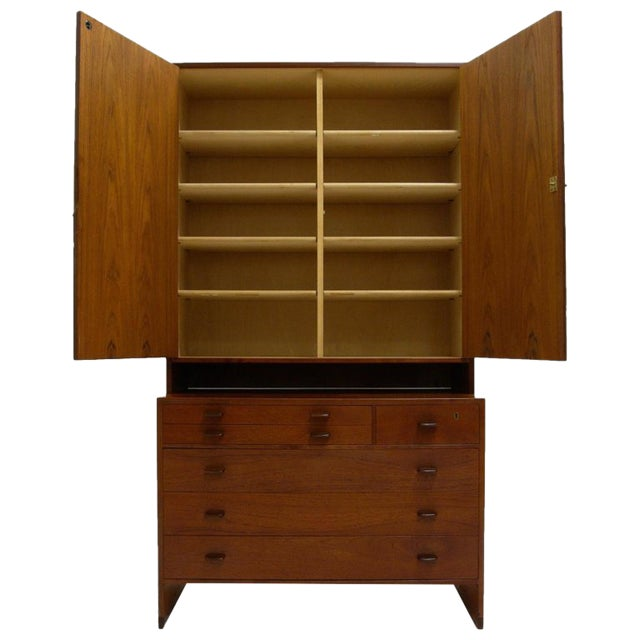 Hans J. Wegner for Ry Furniture Wall Unit With Shelves in Cabinet and Dresser For Sale