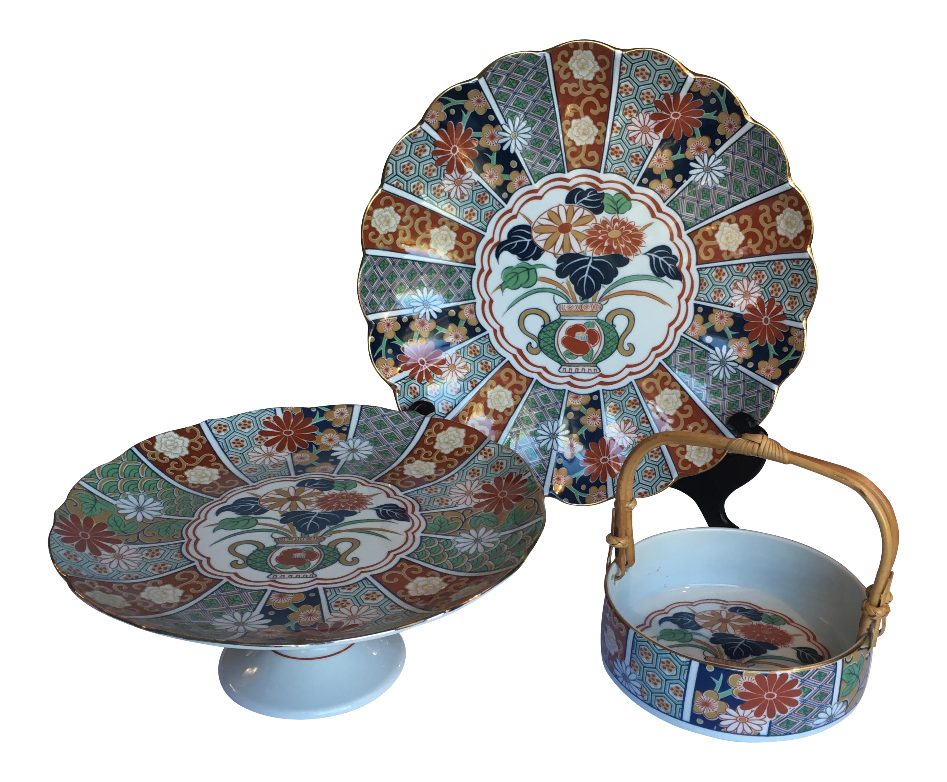 Japanese Imari Porcelain Serving Dishes - Set of 3  sc 1 st  Chairish & Japanese Imari Porcelain Serving Dishes - Set of 3 | Chairish