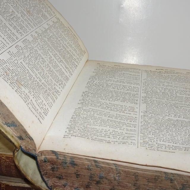 Italian 18th Century Traditional Goat SkinVellum Books - Set of 3 For Sale - Image 3 of 11