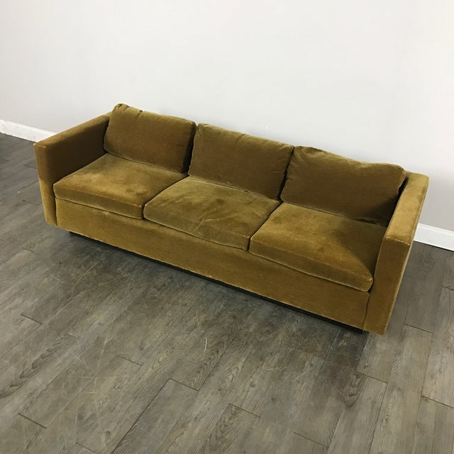 Vintage Gold Mohair Sofa - Image 4 of 11