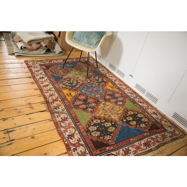 "Vintage Colorful Turkish Melas Rug - 4'6"" X 7' - Image 3 of 9"