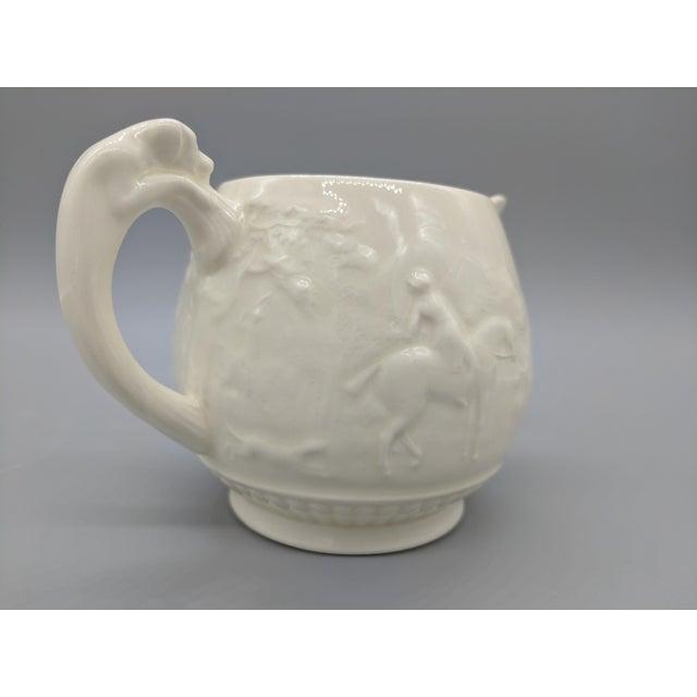 White Vintage English Wedgewood Ivory Tea Set - Set of 3 - Horse and Dog Motif For Sale - Image 8 of 11