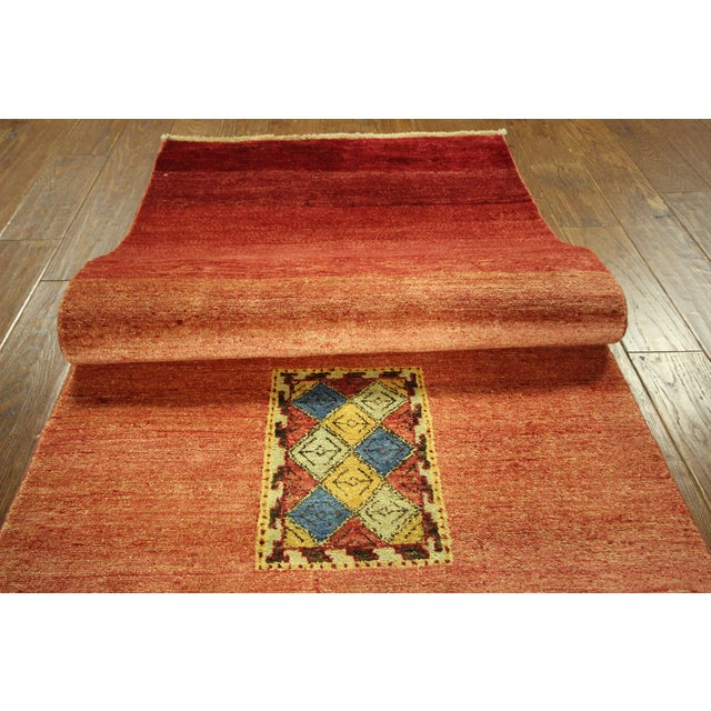 Modern Collection Gabbeh Runner - 2′9″ × 10′ For Sale - Image 7 of 9