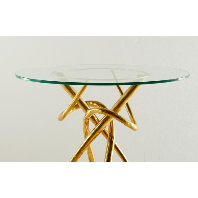 Not Yet Made - Made To Order Pair of Brass Gueridon Table, Gordian Node, Misaya For Sale - Image 5 of 7