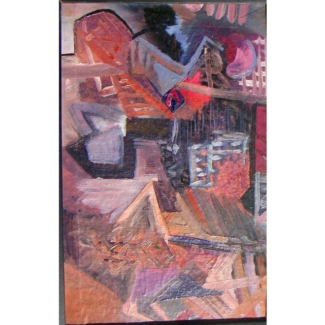 European Cubist Village Painting - Image 3 of 4