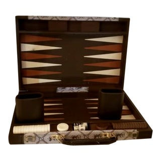 Vintage Mid-Century Modern Horse & Carriage Backgammon Game For Sale