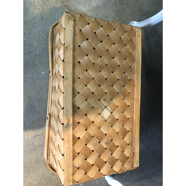 Vintage Wood Picnic Basket For Sale In Miami - Image 6 of 7