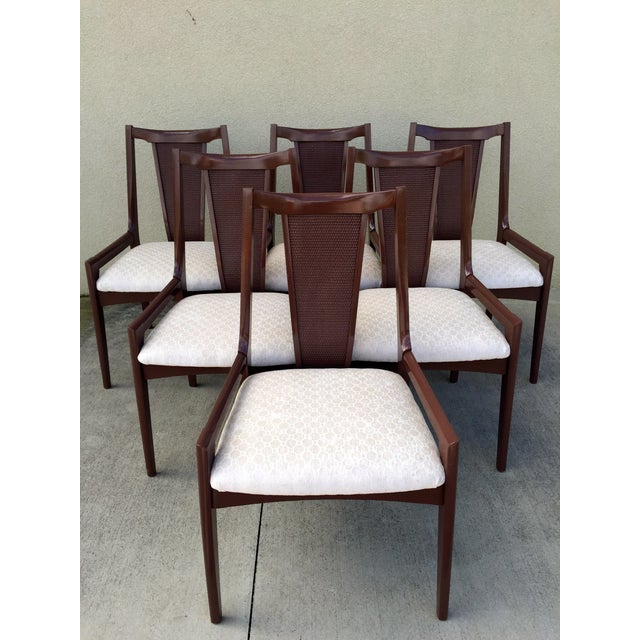 High Back Lacquered Dining Chairs - Set of 6 - Image 2 of 11