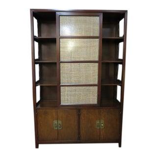 1960s Mid Century Modern Henredon Walnut Bookcase For Sale