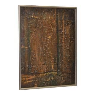 Vintage Abstract by San Francisco Beat Era Artist Bertucelli C.1965 For Sale