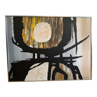 Original Abstract Painting by P. Wolff For Sale