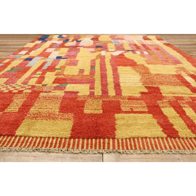 Textile Moroccan Contemporary Rug - 09'11 X 13'11 For Sale - Image 7 of 10
