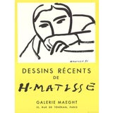 "Image of Henri Matisse ""Dessins Recents"" 1968 Lithograph For Sale"