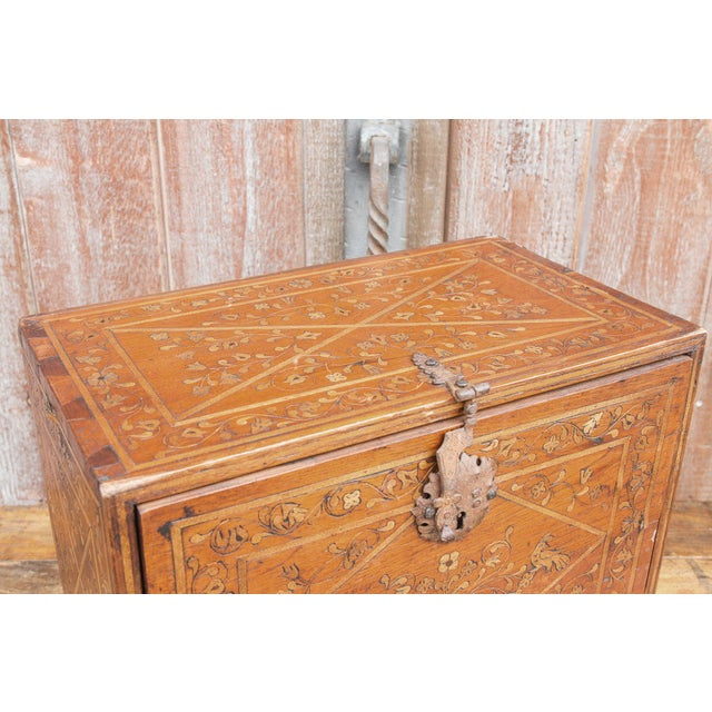 Spanish Vine Motif Wood Inlay Bargueno For Sale - Image 11 of 13