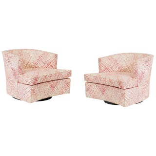 Harvey Probber Swivel Chairs- A Pair For Sale