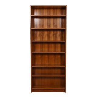 Extra Tall Danish Modern Bookcase with Adjustable Shelves in Teak