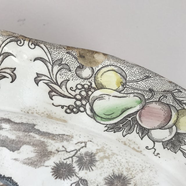 Ceramic Japanese Transferware Turkey Platter For Sale - Image 7 of 9